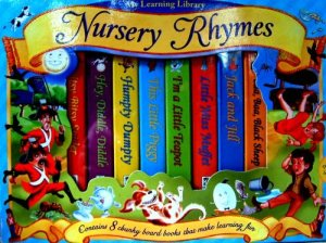 MY LEARNING LIBRARY SET OF 8 BOXED,CHUNKY, 'NURSERY RHYMES' BOARD BOOKS