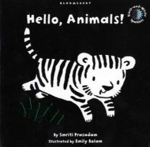 Hello, Animals!: Black and White Sparkler Board Book