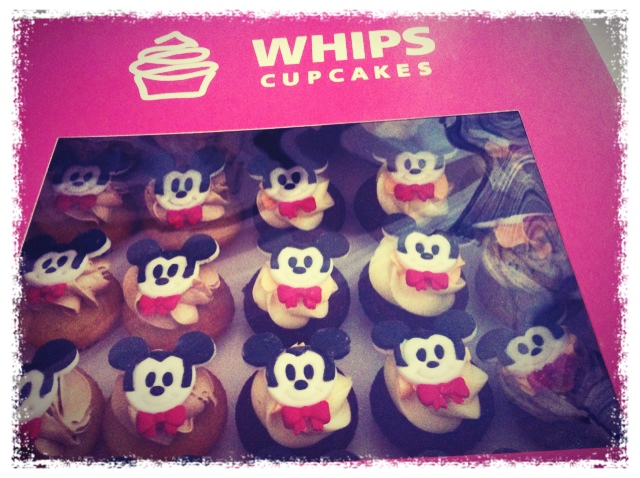 Mickey Mouse Cupcakes from Whips Cupcakes