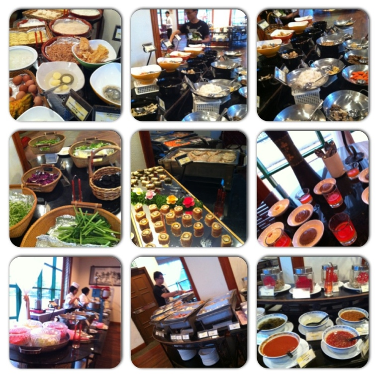 Hotpot Buffet Dinner Spread