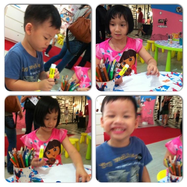 Kids doing Art Work @ Art Garden