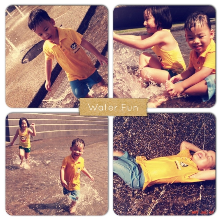 R and Zai Water Play