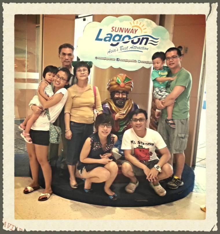 My family @ Sunway Lagoon
