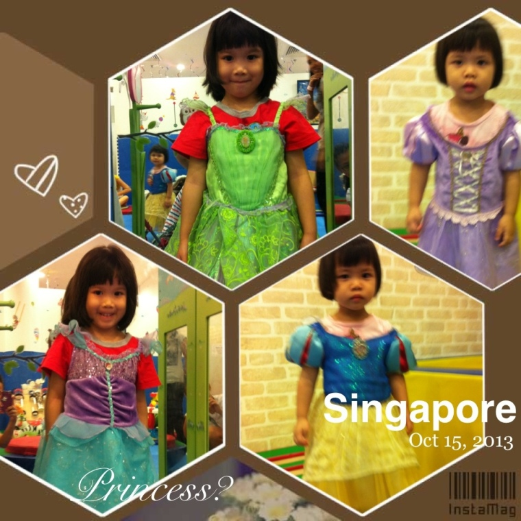 Seizing the girls love for dressing up, we help them don on the princess dresses at HP.