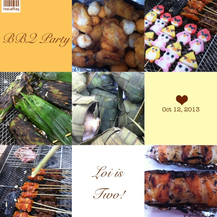 BBQ food for Loi 2nd Birthday Party!