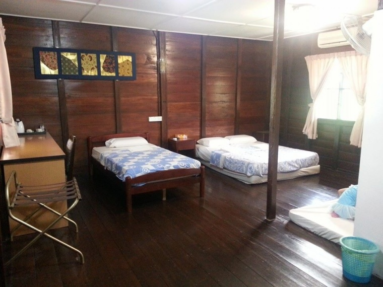 "The sparsely furnished chalet room with the added ""bed"" right at the corner. (Photo Credits: My SIL)"