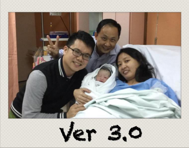 Dr Ong with Us right after the birth of TT.