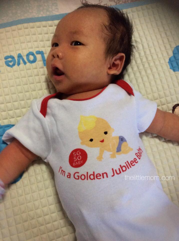 Our Golden Jubilee Baby @ 1 Month