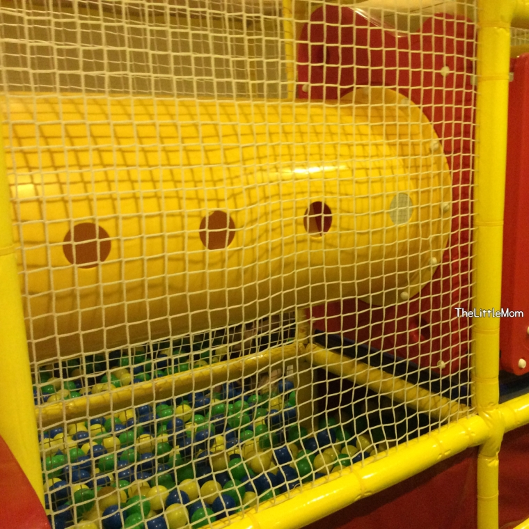The tunnel that gets you from the one side (stair) to the other (ball pit).
