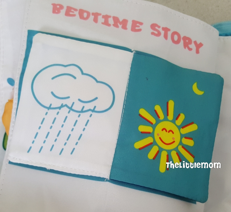 The book shows the different weather.